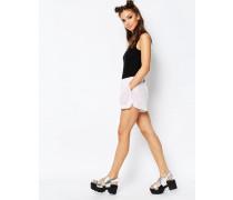 Shorts mit Pailletten Weiß