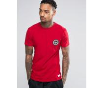 T-Shirt mit Wappenlogo Rot