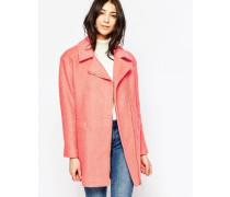 Mantel mit asymmetrischem Reißverschluss Rosa