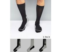 Performance-Socken mit Coolpass im 3-er Pack Mehrfarbig