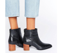Stiefel mit Holzabsatz Schwarz