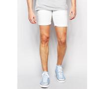 Jeansshorts mit Stretchanteil Weiß