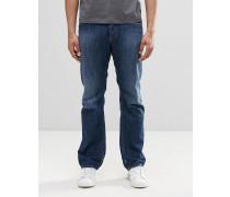 Waykee 855L Jeans mit geradem Bein in mittlerer Waschung Blau