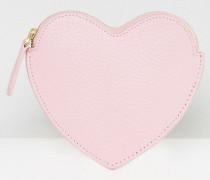 Geldbörse mit Herzmotiv Rosa