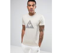 Beiges T-Shirt mit großem Logo, 1711090 Beige
