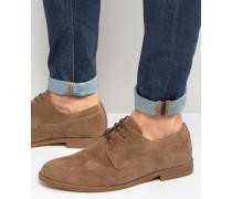 Hellbraue Derby-Schuhe Bronze