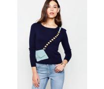 Pullover mit Taschendetail Marineblau