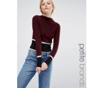 Pullover in Blockfarben Rot