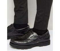 Bosley Bootsschuhe aus Leder Schwarz
