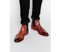 Camroon Chelsea-Stiefel aus Leder Braun