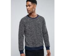 Sweatshirt mit seitlichen Taschen Marineblau