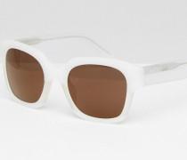 Sonnenbrille mit verspiegelten Gläsern Weiß