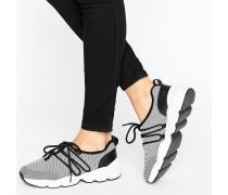 Sneaker mit Netzstoffdetails Schwarz