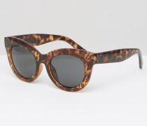 Oversize-Cateye-Sonnenbrille mit Schildplatt-Design Braun