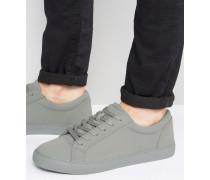 Sneaker in grauer Blockfarbe Grau