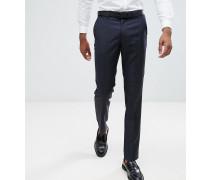 TALL - Schmale Anzughose in Marineblau aus 100% Wolle