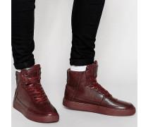 Python Knöchelhohe Sneaker Rot