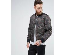 Denim & Supply Ralph Lauren Bomberjacke mit Military-Muster Grün
