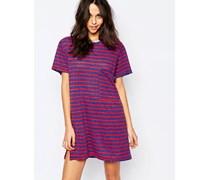 Gestreiftes Jersey T-Shirt-Kleid Mehrfarbig