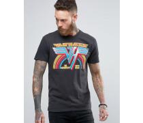 T-Shirt mit Aufdruck Van Halen in verwaschenem Schwarz Schwarz