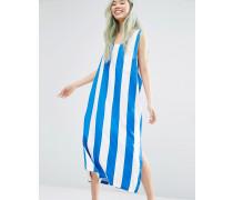 Kleid mit Blockstreifen und Schlitzen Mehrfarbig