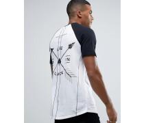 Rock T-Shirt mit Print auf der Rückseite Weiß