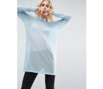 Übergroßer Pullover mit überkreuztem Rücken Blau