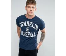 Franklin and Marshall T-Shirt mit Logo Marineblau