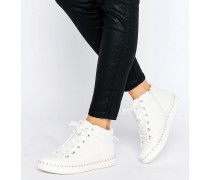 Drina Weiße Sneaker mit hohem Schaft Weiß