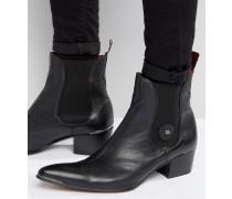 Sylvian Chelsea-Stiefel aus Leder Schwarz