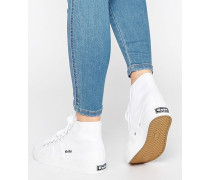 Coaster Turnschuhe mit hohem Knöchel Weiß