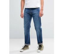 Co Leif Weite Jeans in klassischer Crumblewaschung Marineblau