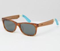 Beachmaster Quadratische Sonnenbrille Braun