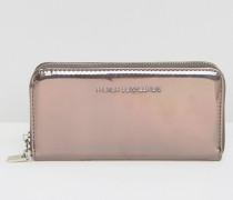 Hochglänzende Brieftasche Gold