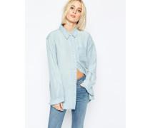 Jeanshemd in heller Waschung Blau