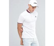 Fila Vintage-Polohemd mit Retro-Kragen Weiß