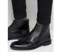 Budapester Stiefel aus schwarzem Leder Schwarz