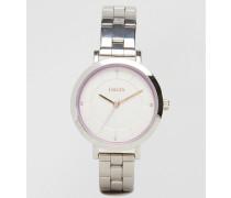 Armbanduhr in Silber Silber