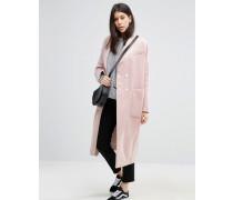 Swing-Mantel aus Wollmischung Rosa