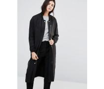 Seija Langer gerader Mantel Schwarz