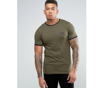 Ringer-T-Shirt Grün