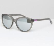 CK Jeans Sonnenbrille in Katzenaugenform Grau