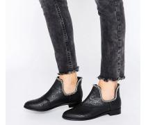 AJAY Ankle-Boots mit Kettenverzierung Schwarz