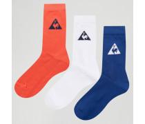 Socken in drei Farben im 3er-Pack Mehrfarbig