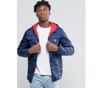Fila Gefütterte Vintage-Jacke Marineblau