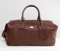 Reisetasche aus Leder Braun