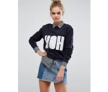 HOH Boyfriend-Sweatshirt Marineblau