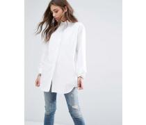 Oxford-Hemd im Boyfriend-Stil Weiß