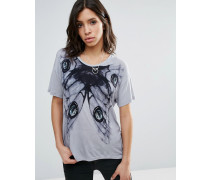 Fatigue T-Shirt aus Jersey Grau