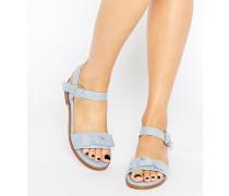 FRESCO Sandalen mit Schleifen Blau